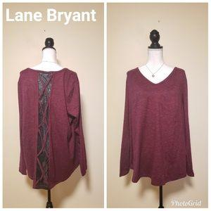 NWT,Lane Bryant LIVI Long Sleeve Lace Top, 22/24